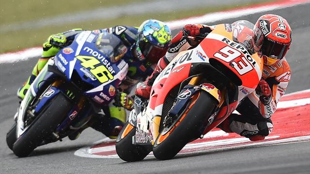 Contatto Rossi-Marquez, nessuna squalifica ma Vale partirà ultimo a Valencia