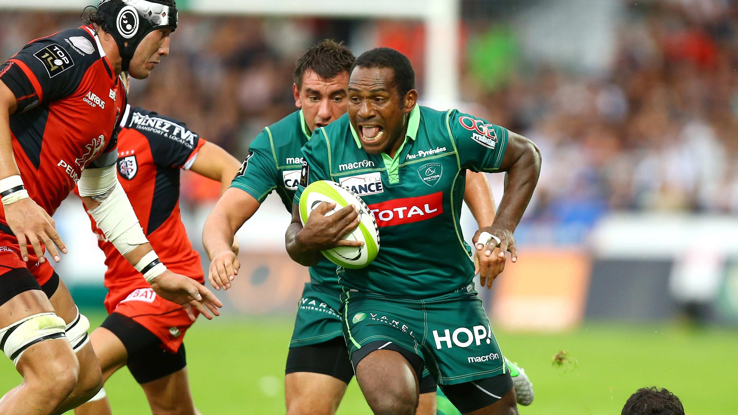 Mosese Ratuvou (Pau) face à Toulouse - 13 septembre 2015