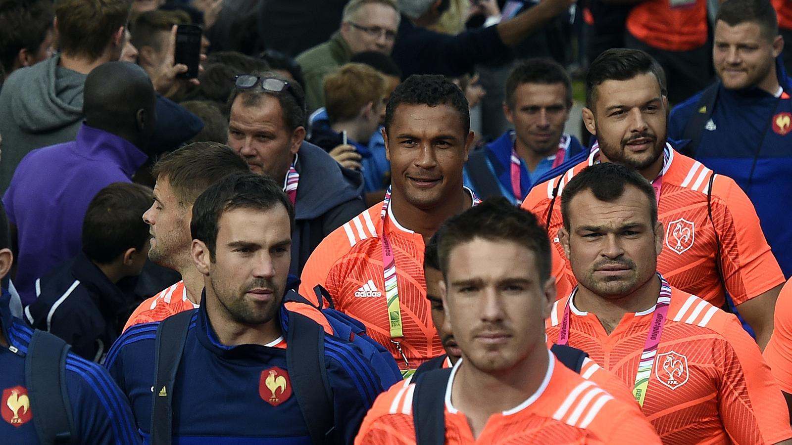 Thierry Dusautoir et les joueurs du XV de France - 13 septembre 2015