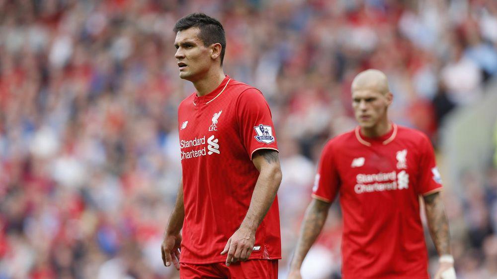 Liverpool's Dejan Lovren and Martin Skrtel