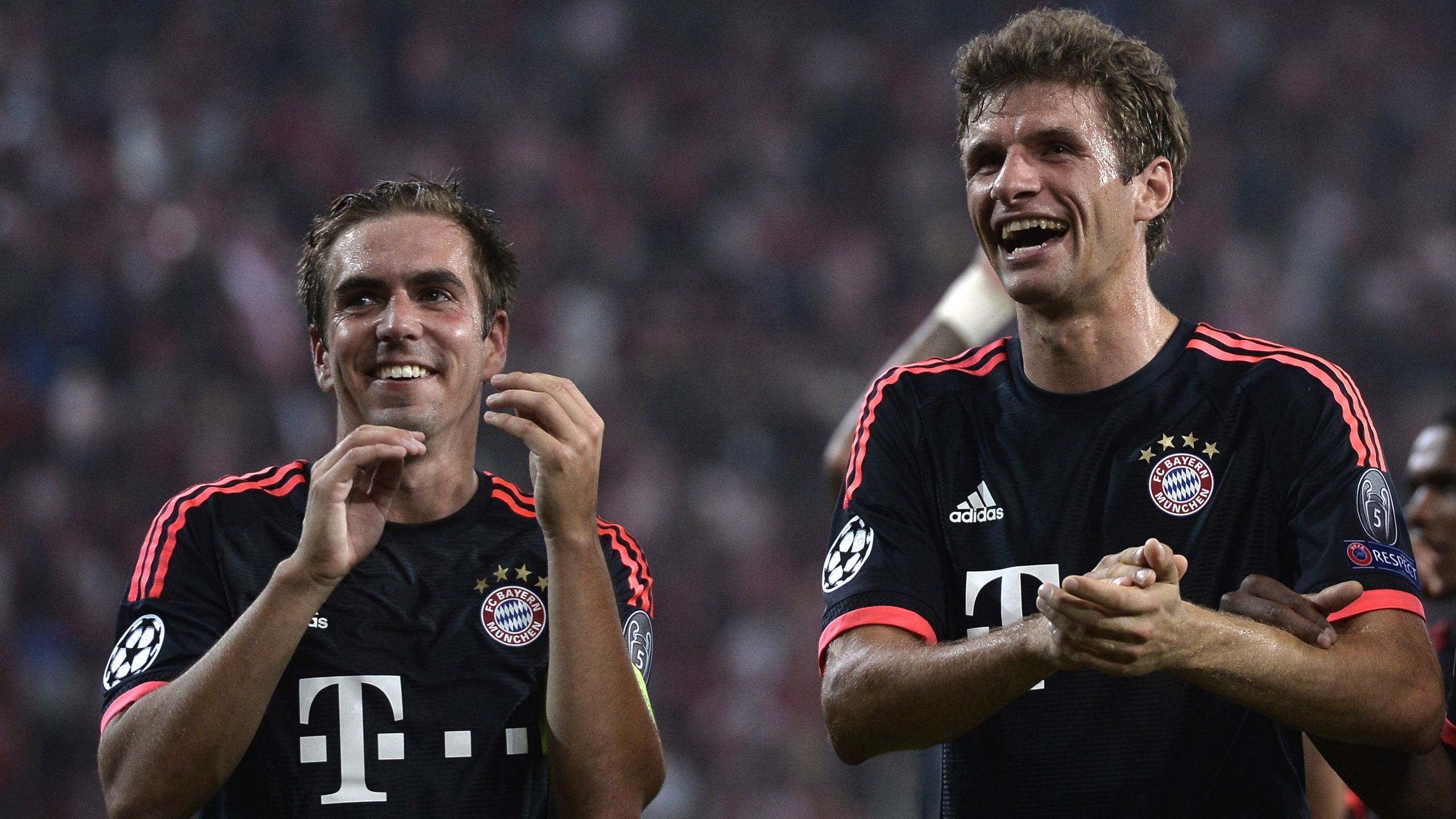 Thomas Müller, Philipp Lahm (FC Bayern München)