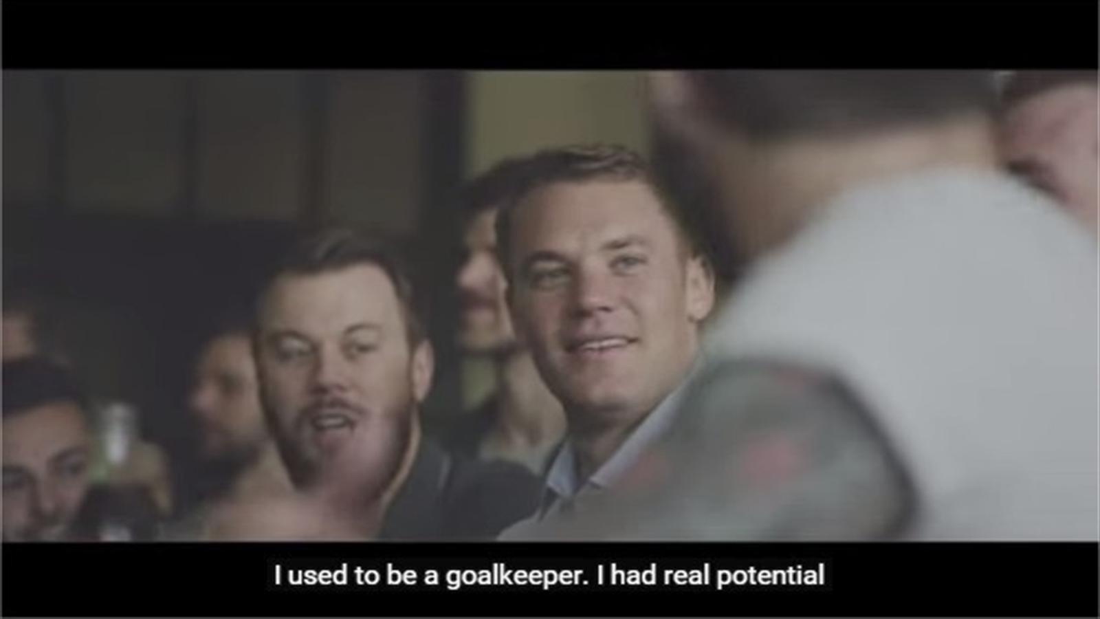 Bayern Munich and Germany goalkeeper Manuel Neuer in a Coke Zero advert