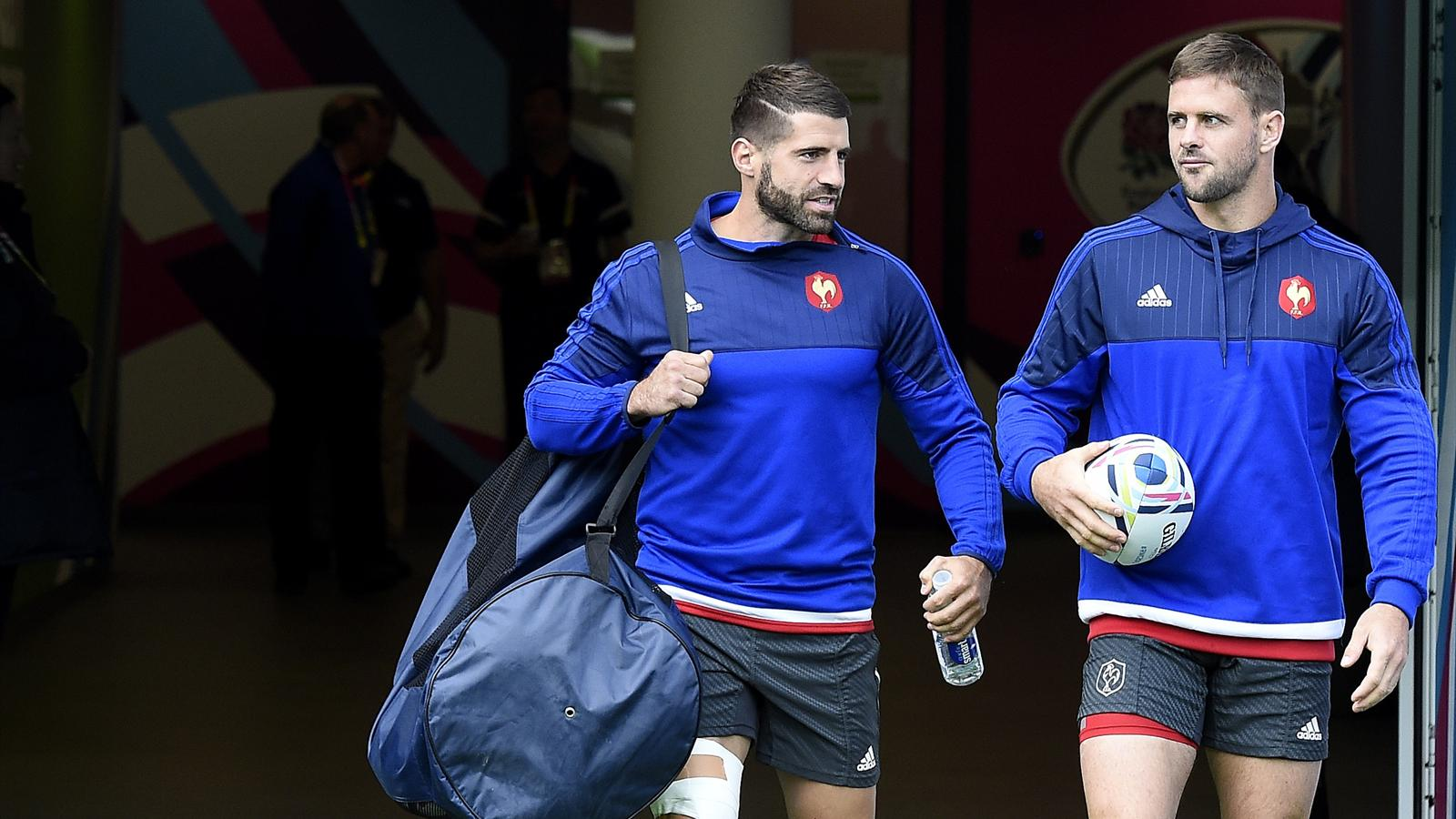 Sébastien Tillous-Borde et Rory Kockott (XV de France) - 17 septembre 2015