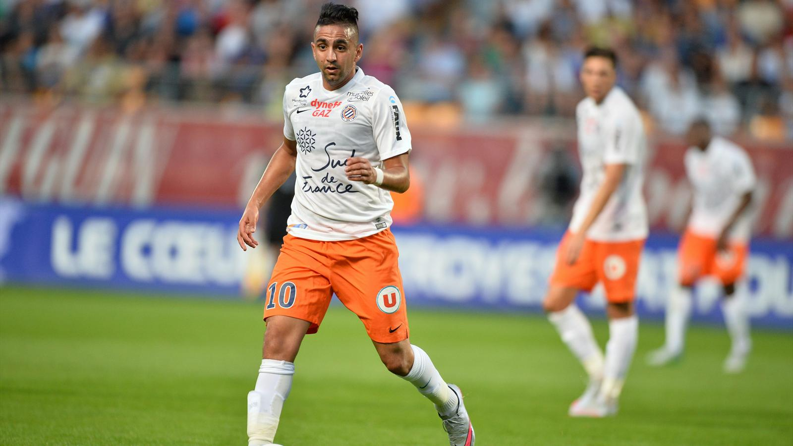 Ryad Boudebouz lors de Troyes-Montpellier (saison 2015-2016)
