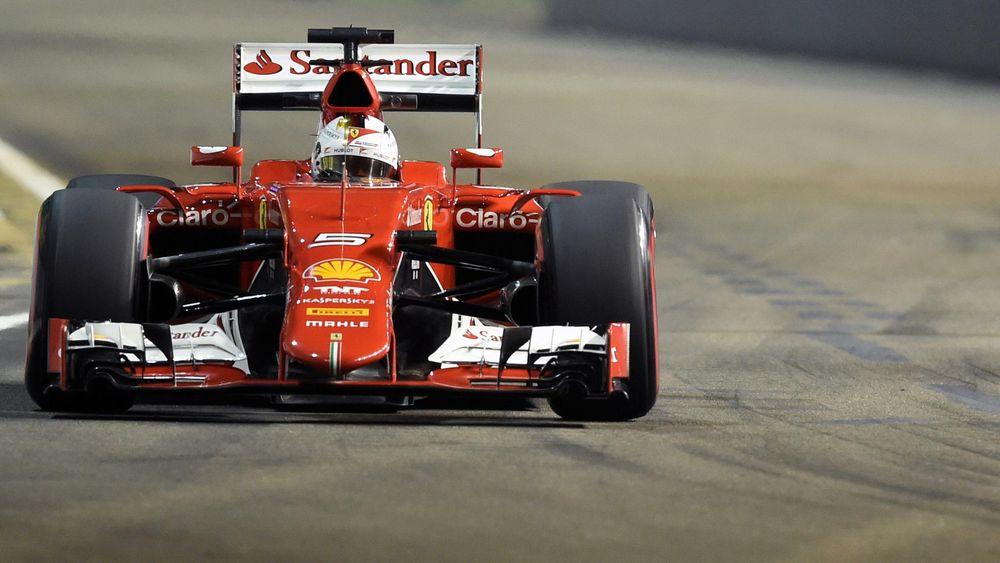 German Ferrari driver Sebastien Vettel during the Formula One Singapore Grand Prix in Singapore