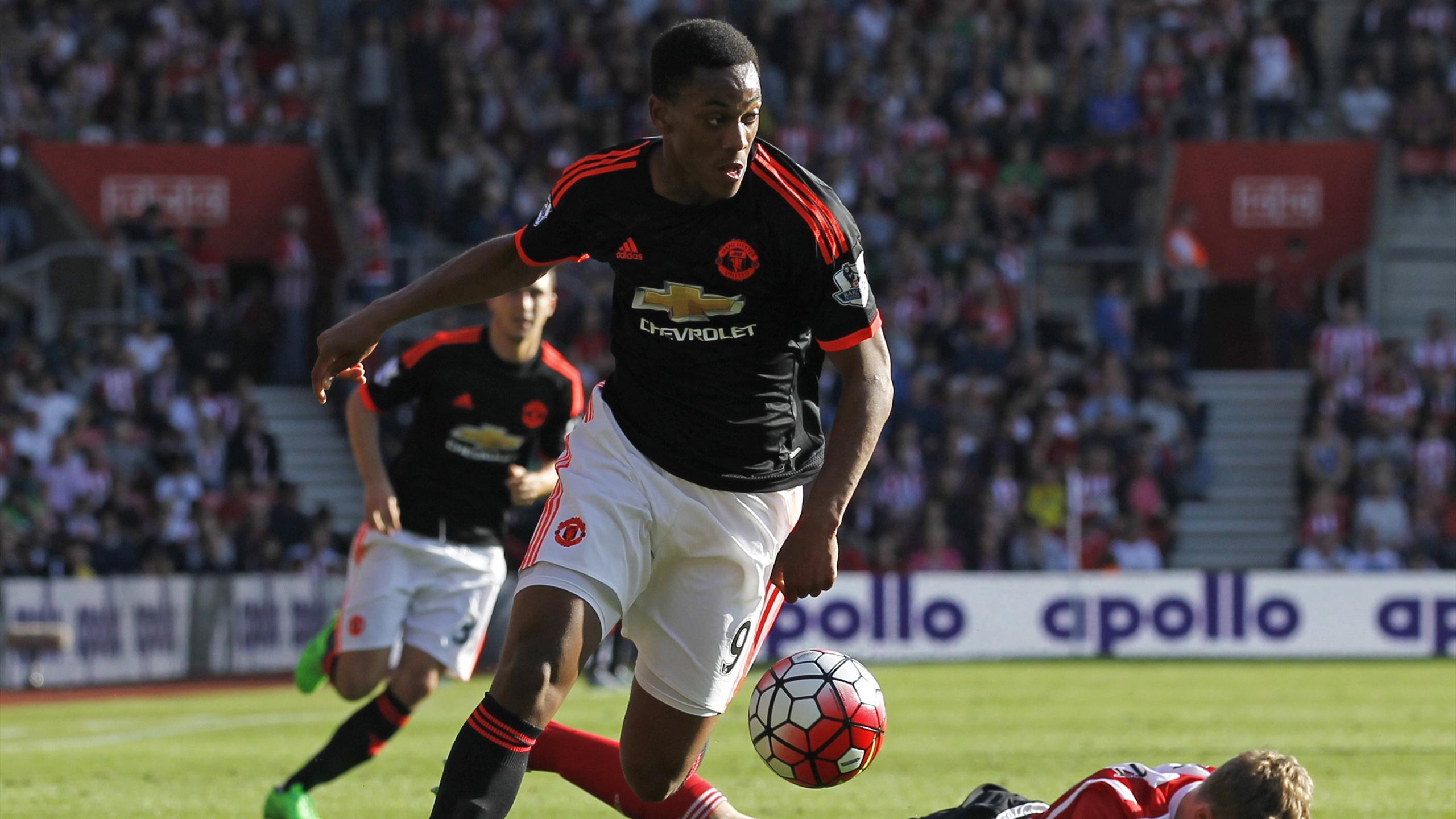 Anthony Martial, double buteur face à Southampton avec Manchester United