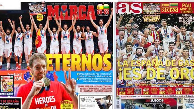 La prensa española se rinde a la gesta del basket