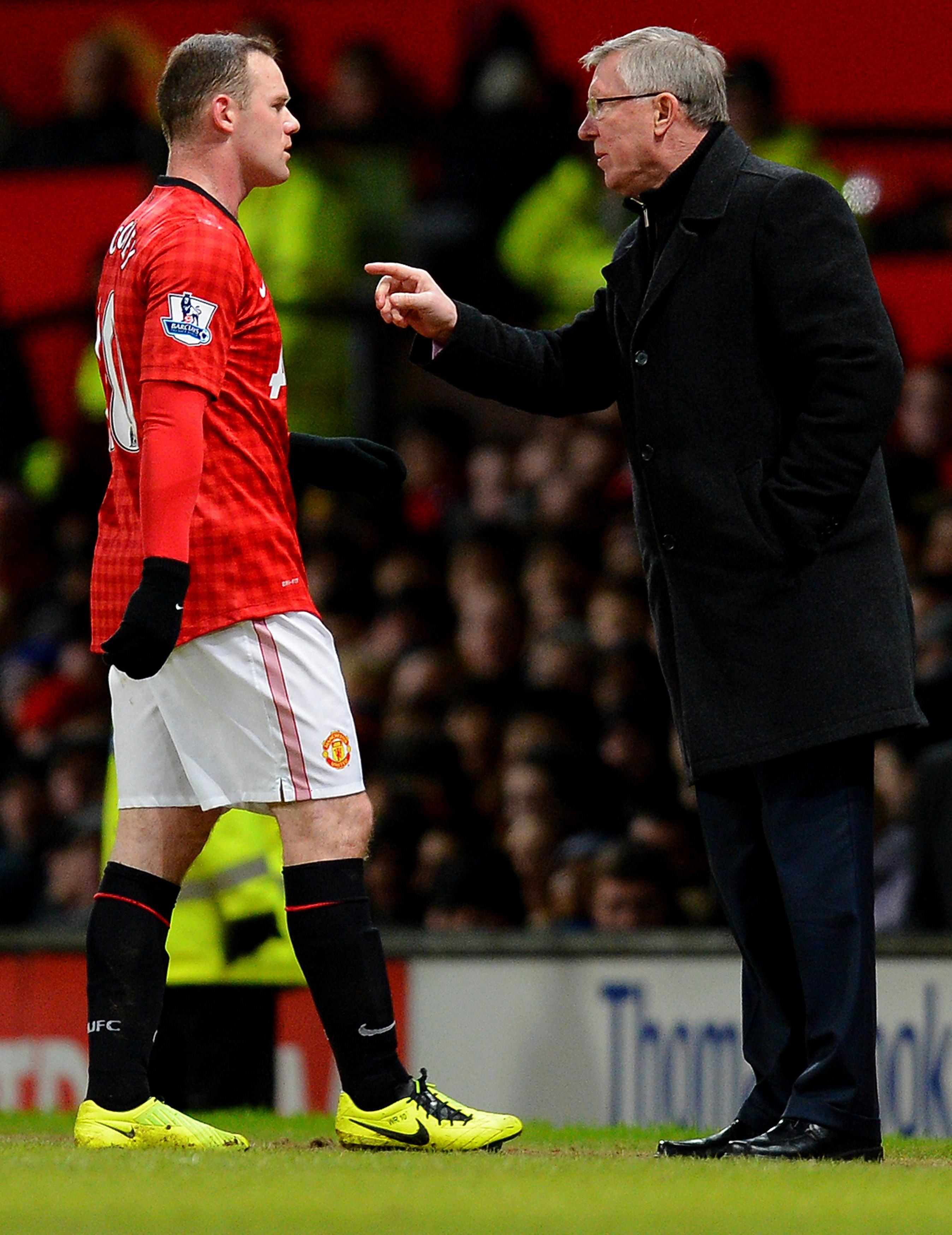 Wayne Rooney et Alex Ferguson