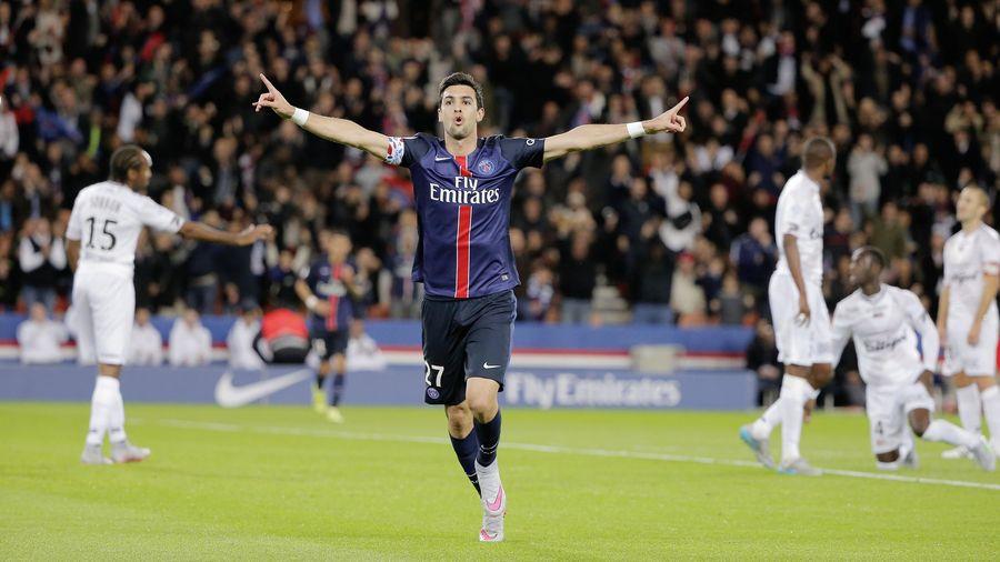 Javier Pastore (PSG) a ouvert le score face à Guingamp - Ligue 1 2015-2016