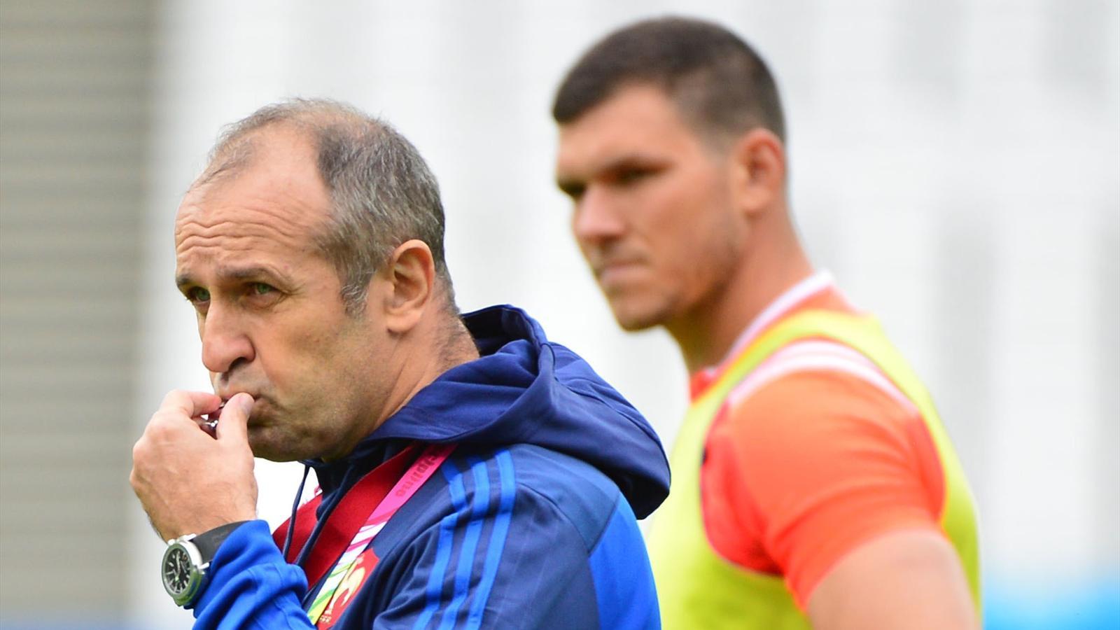 Rémy Grosso et Philippe Saint-André (XV de France) - 22 septembre 2015