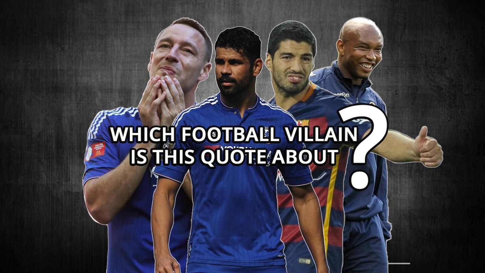 John Terry, Diego Costa, Luis Suarez and El Hadji Diouf