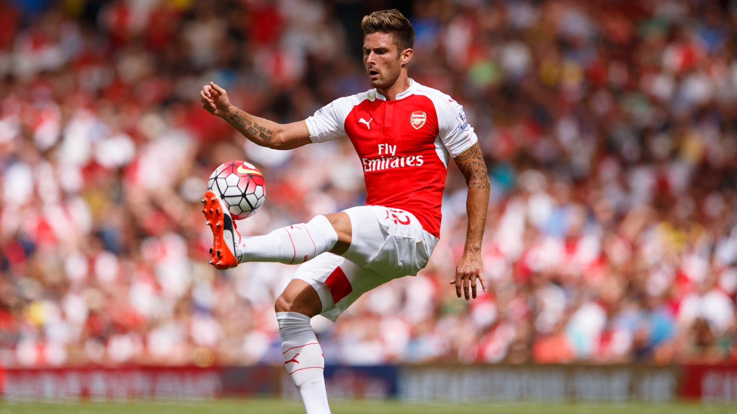Olivier Giroud lors d'Arsenal-West Ham (saison 2015-2016)