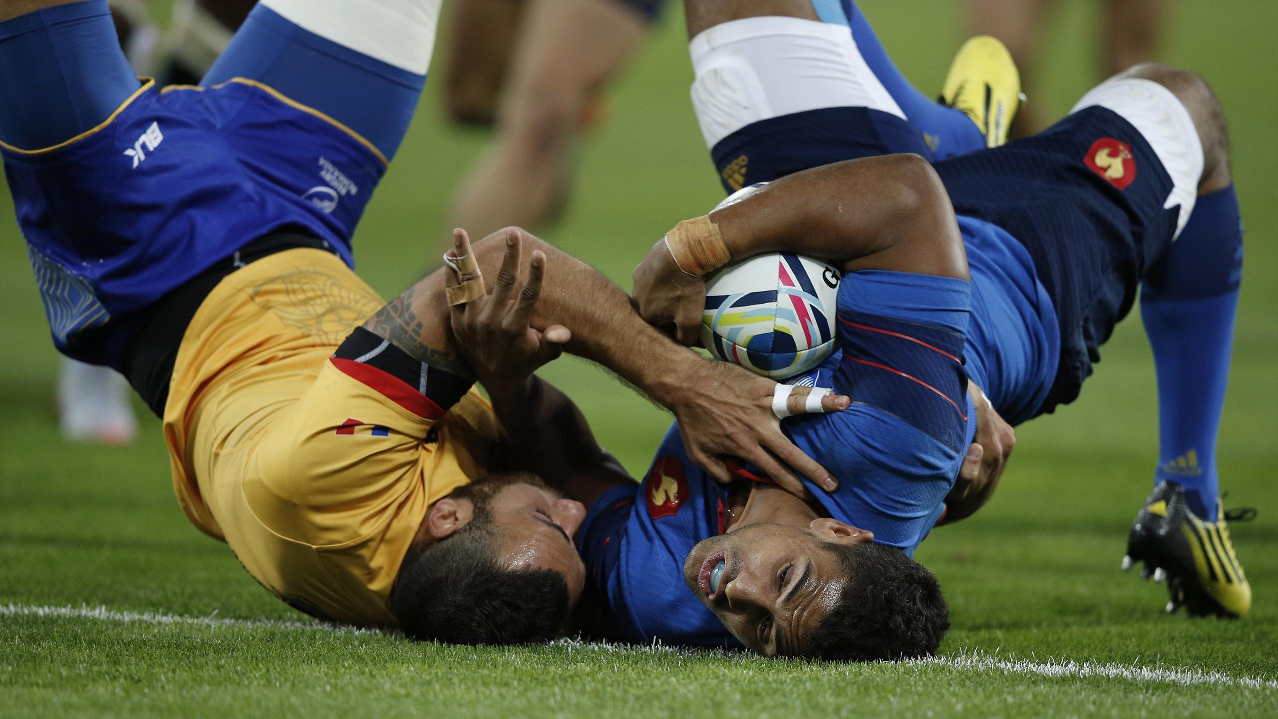 Wesley Fofana (XV de France) face à la Roumanie - 23 septembre 2015