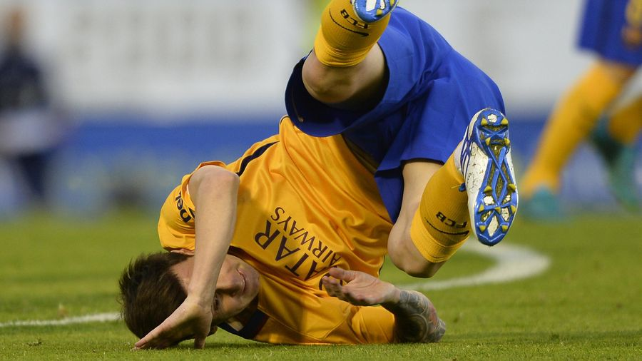 Lionel Messi lors de Celta Vigo-Barça (Liga, saison 2015-2016)