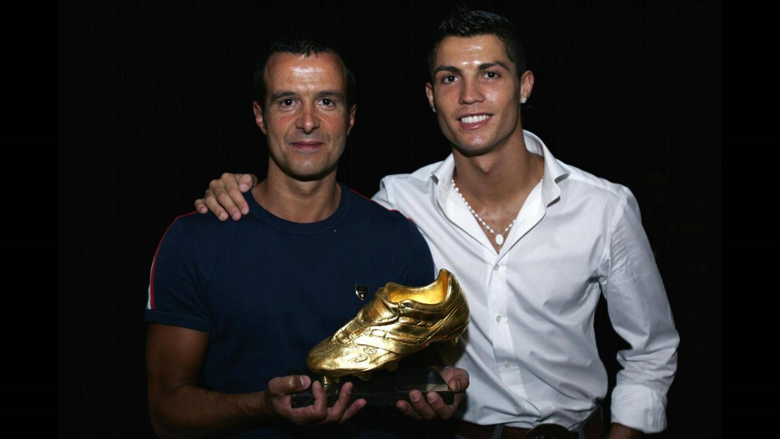 Jorge Mendes, Cristiano Ronaldo (imago NOT in POR, FRA, BRA)