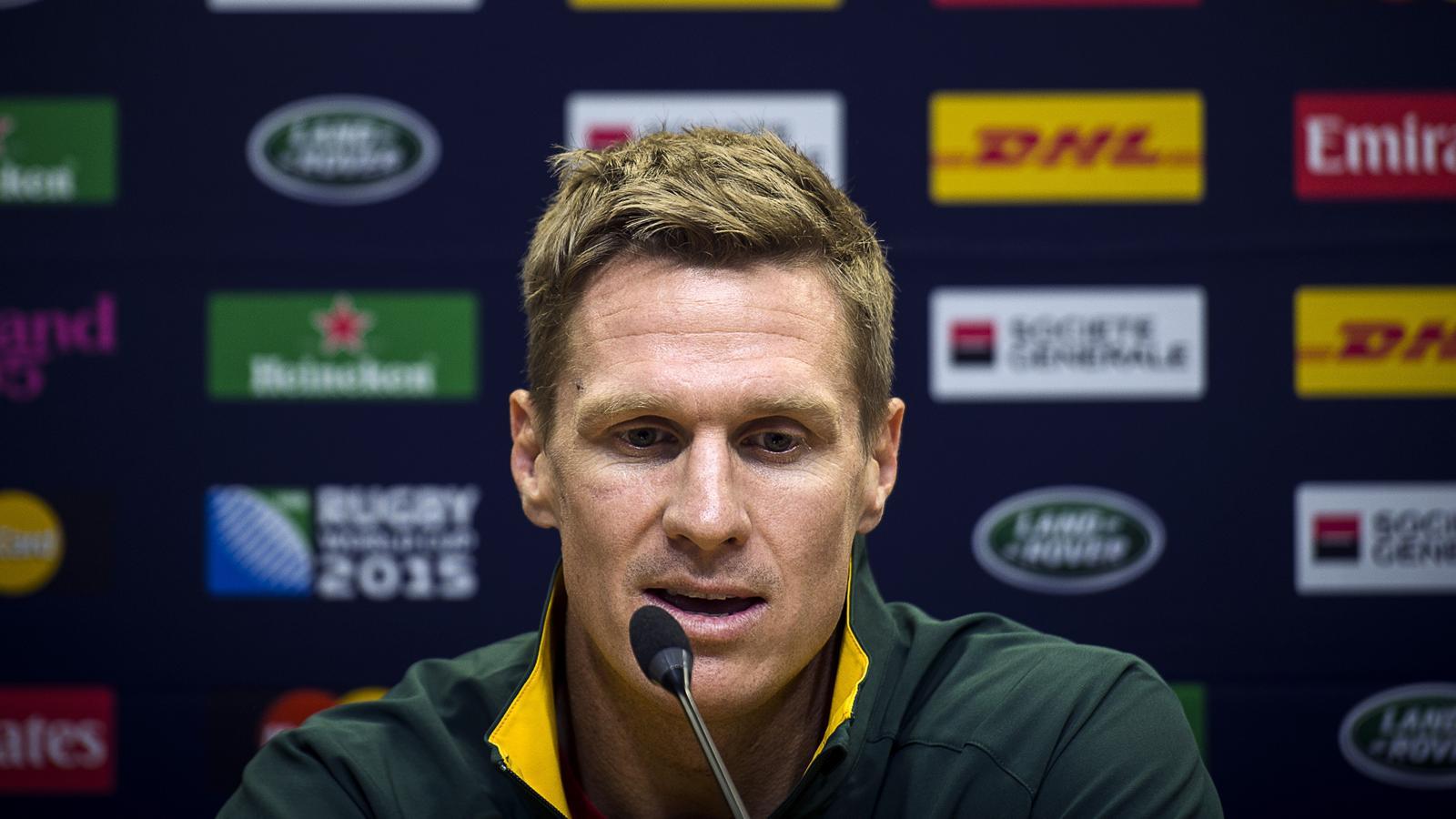 Jean De Villiers, le capitaine de l'Afrique du Sud - 25 septembre 2015