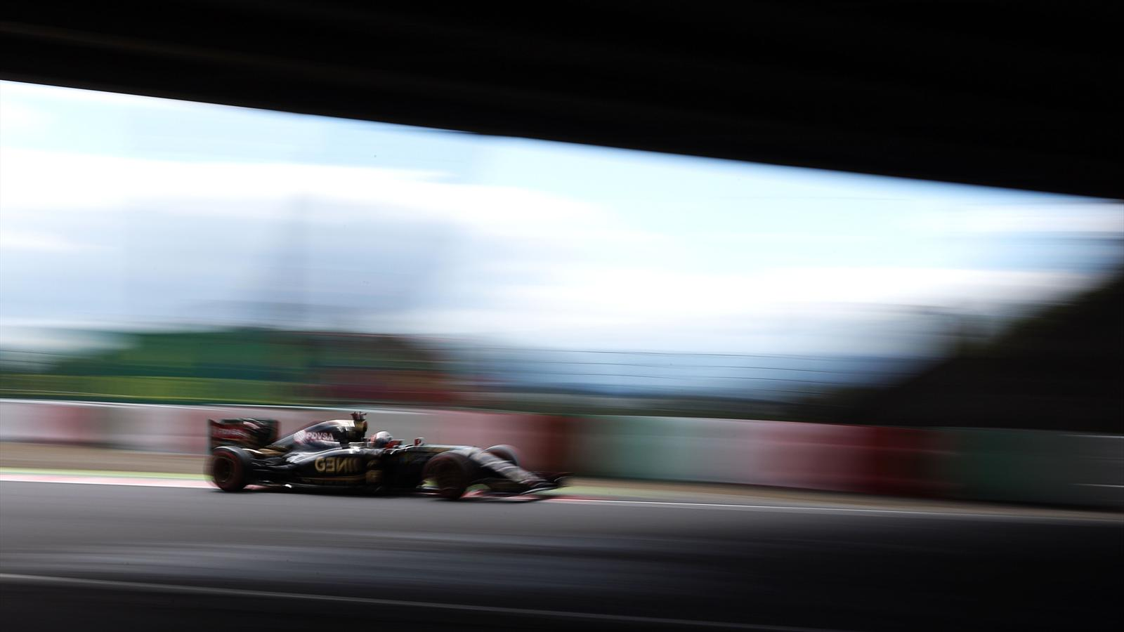 Romain Grosjean (Lotus) au Grand Prix du Japon 2015
