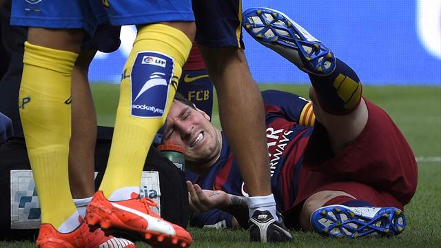 Messi en prend pour deux mois à l'infirmerie