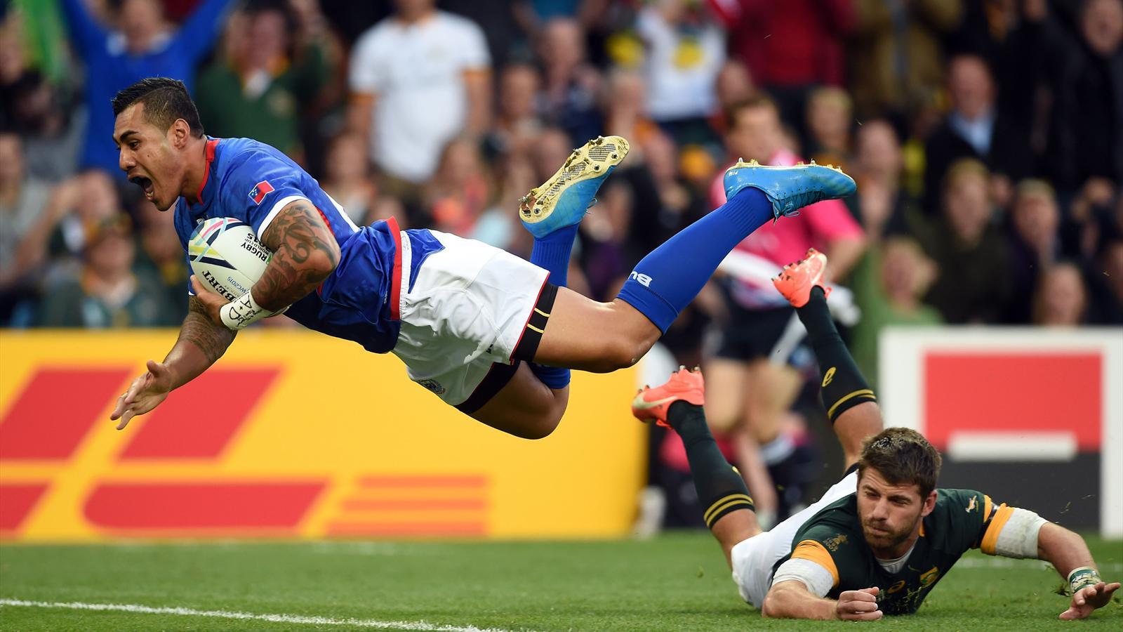 Tusi Pisi (Samoa) face à l'Afrique du Sud - 26 septembre 2015