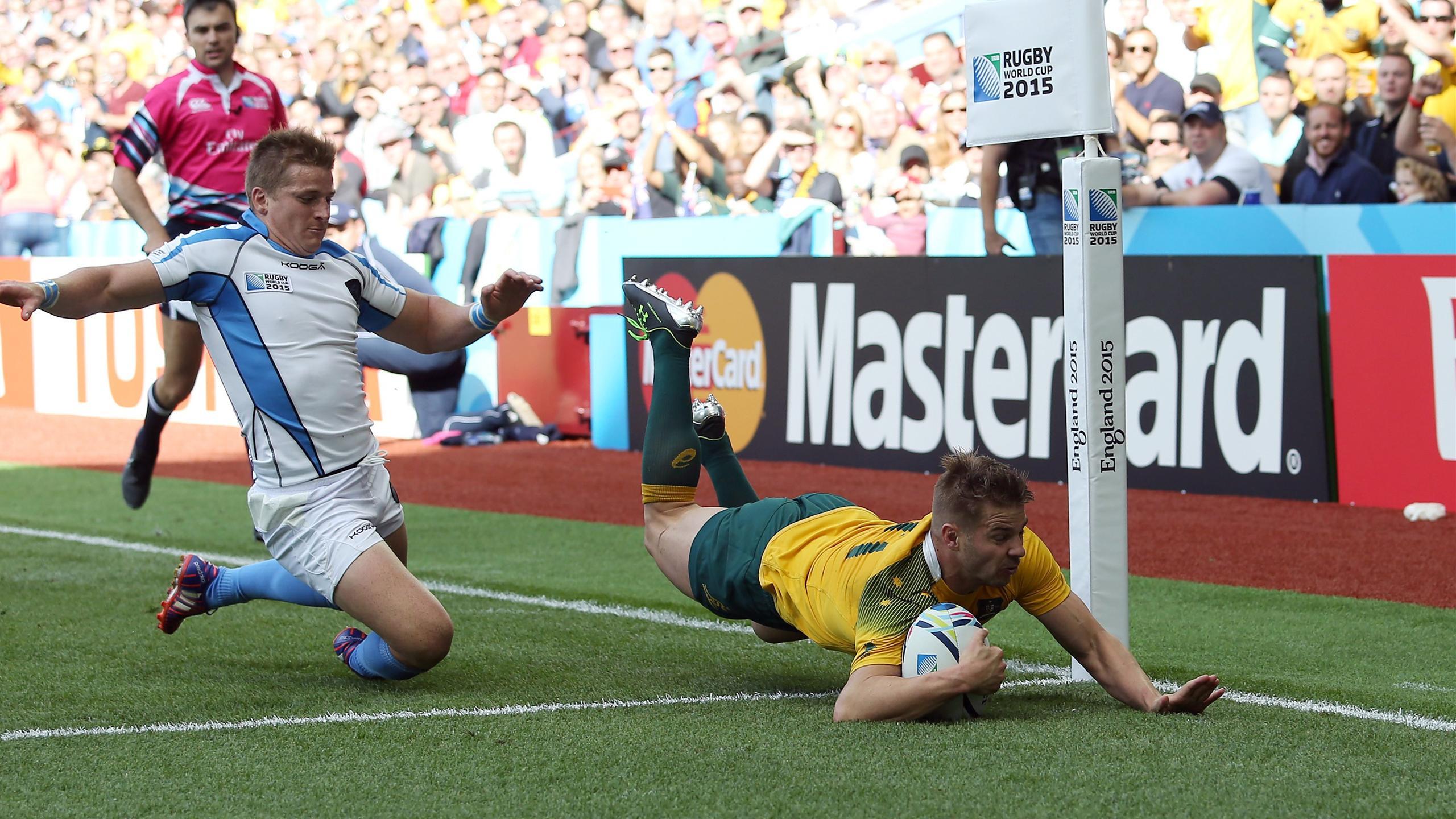 Drew Mitchell (Australie) face à l'Uruguay - 27 septembre 2015
