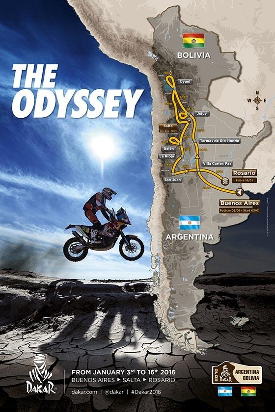 Le parcours du Dakar 2016