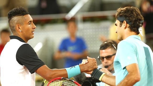 """Kopierte Federer den """"SABR"""" von Kyrgios?"""