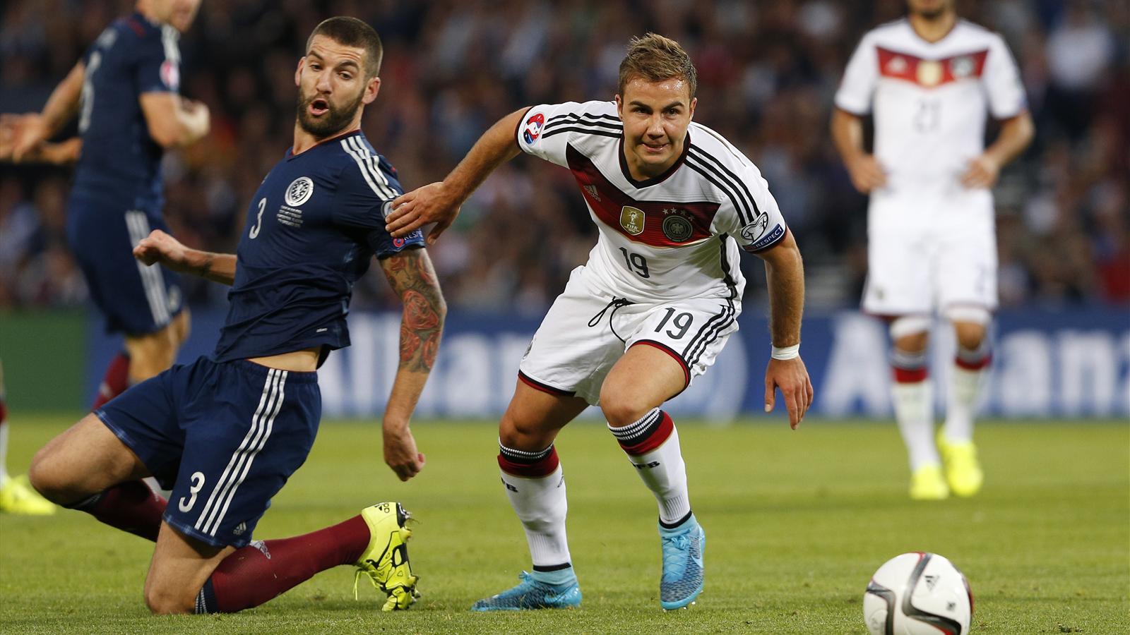 Mario Götze lors d'Ecosse-Allemagne (Qualifs Euro 2016)