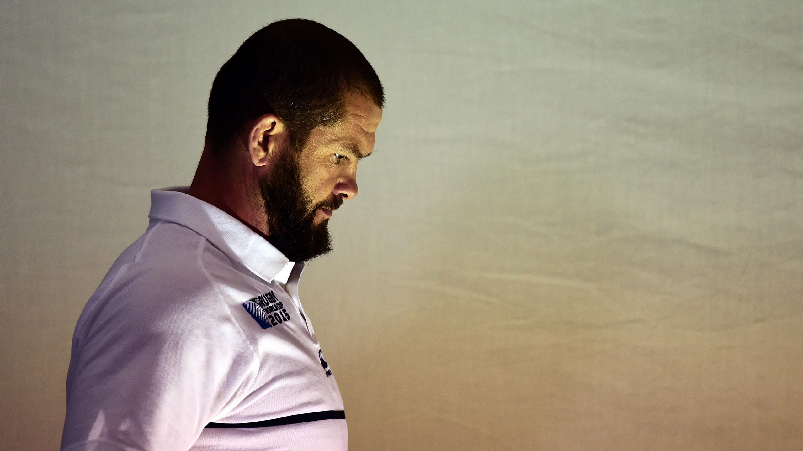Andy Farrell, l'entraîneur des trois-quarts de l'Angleterre