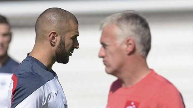 """Deschamps sur un éventuel retour de Benzema : """"La décision appartient à Noël Le Graët et à moi"""""""