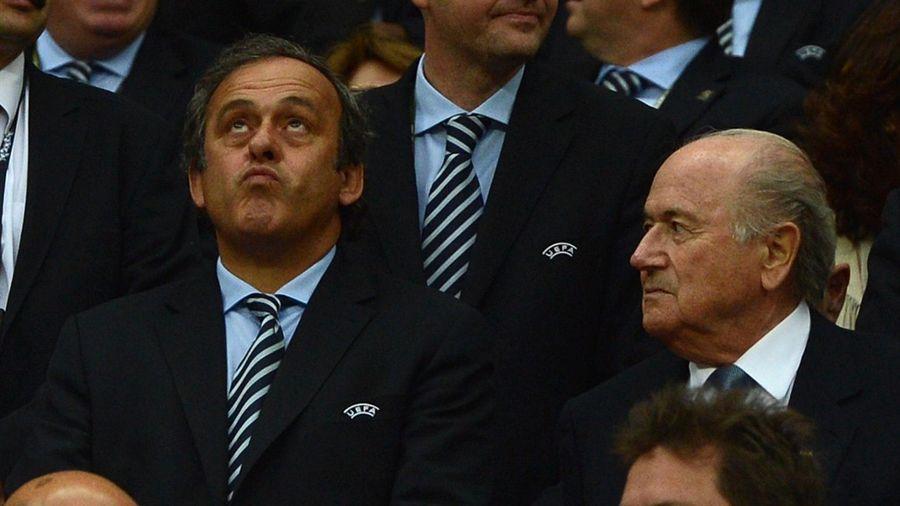 Michel Platini et Sepp Blatter en 2012
