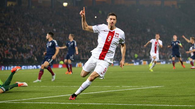 La prima volta dell'Irlanda del Nord, Lewandowski fa fuori la Scozia