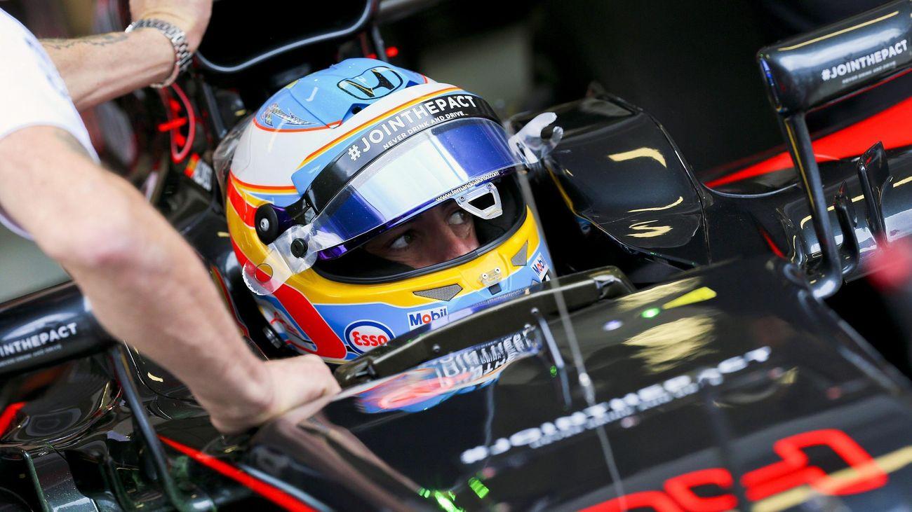Fernando Alonso (McLaren-Honda) en el Gran Premio de Rusia 2015