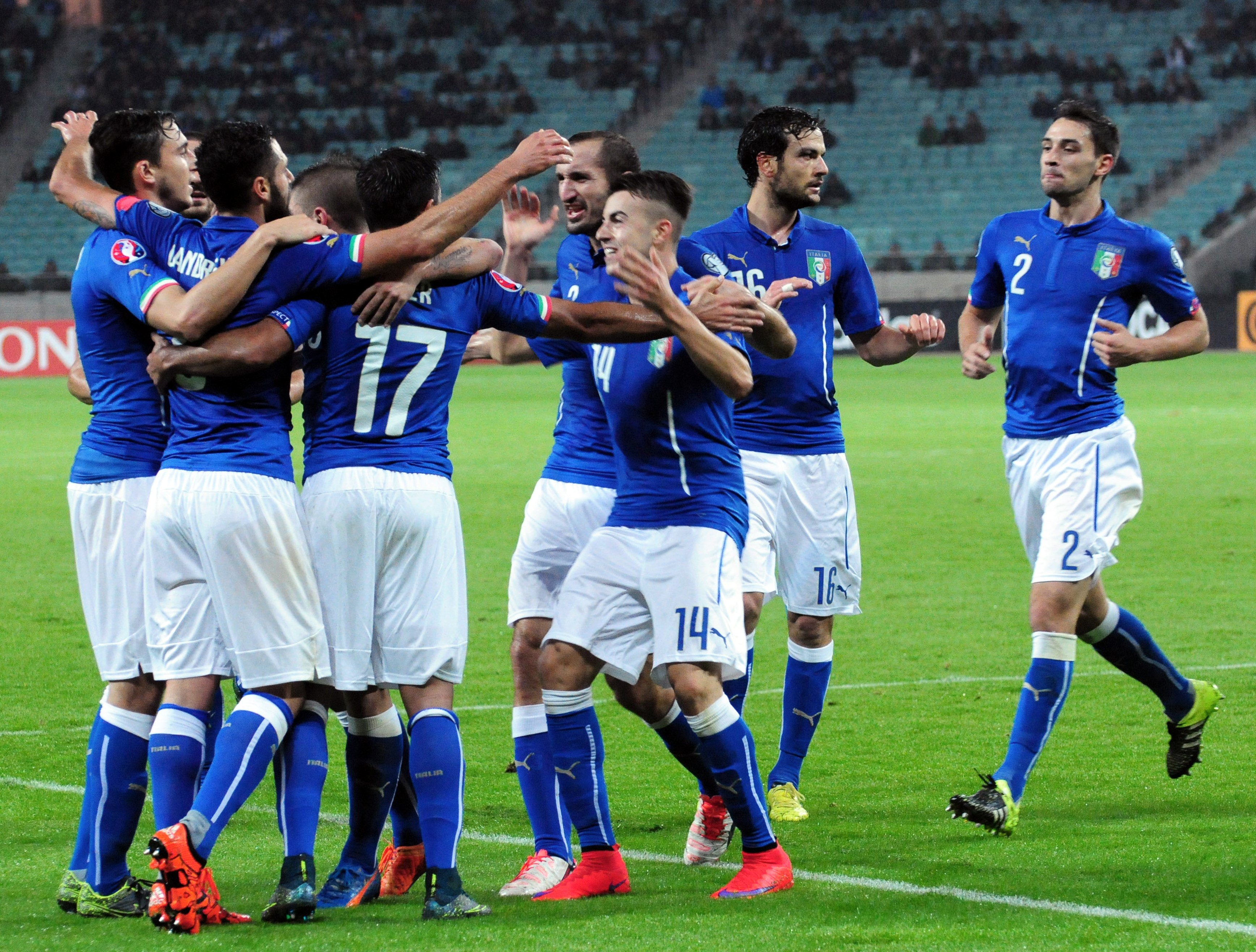 Сборная Италии обыграла Азербайджан и вышла на Евро-2016