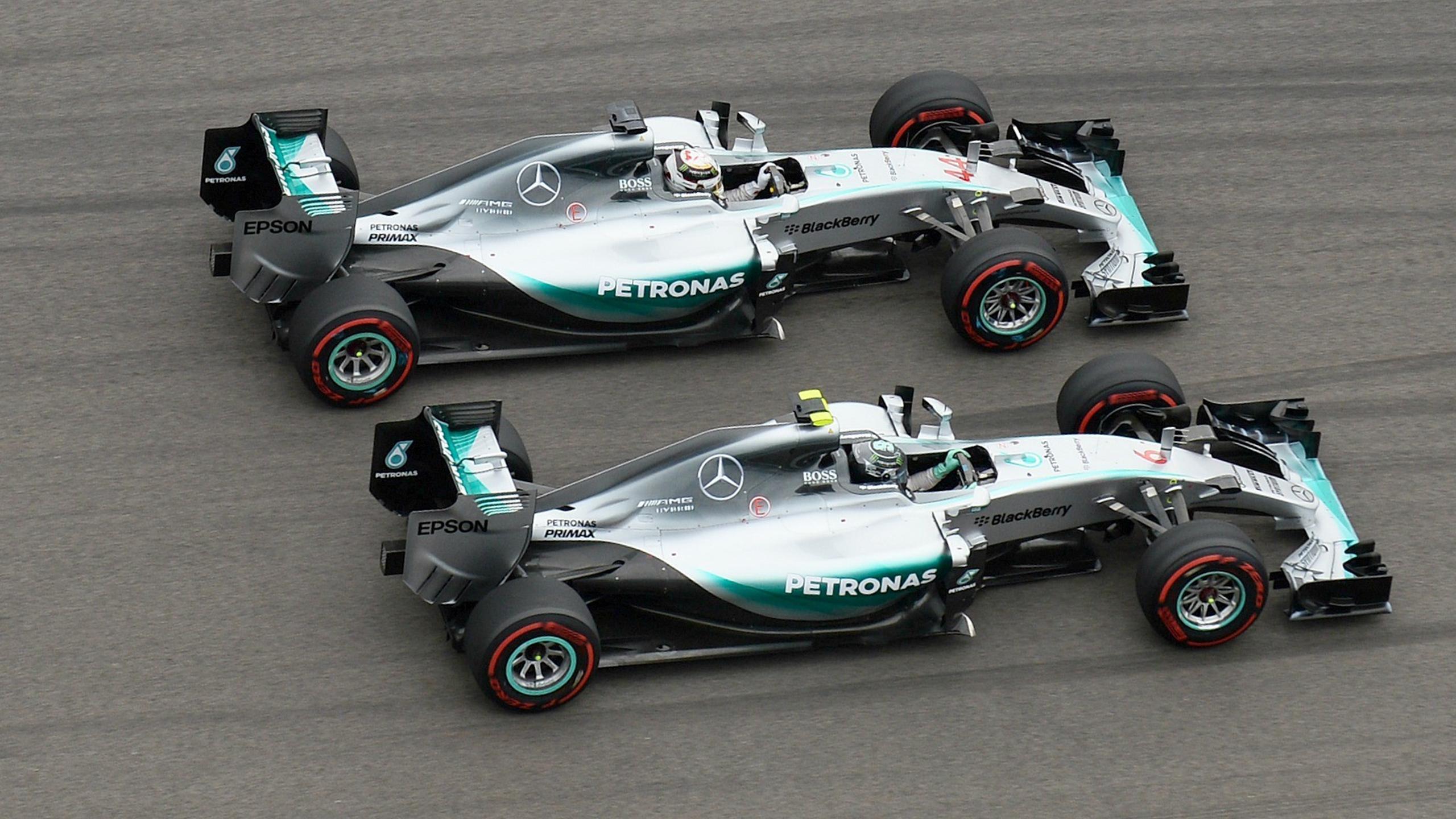 Нико Росберг и Льюис Хэмилтон (Mercedes)
