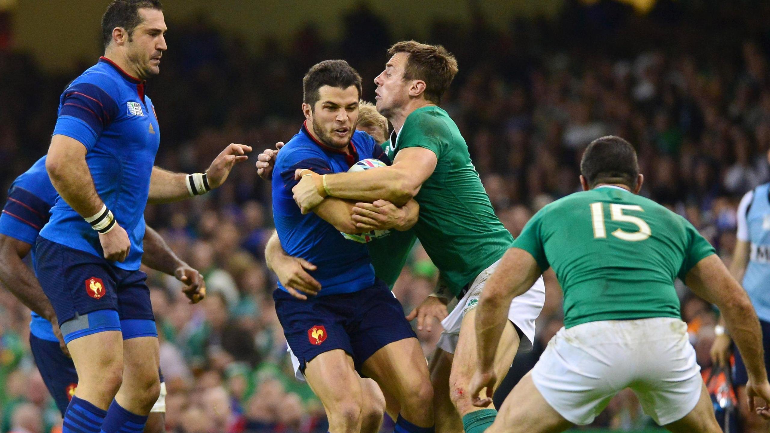 Brice Dulin (XV de France) face à l'Irlande - 11 octobre 2015