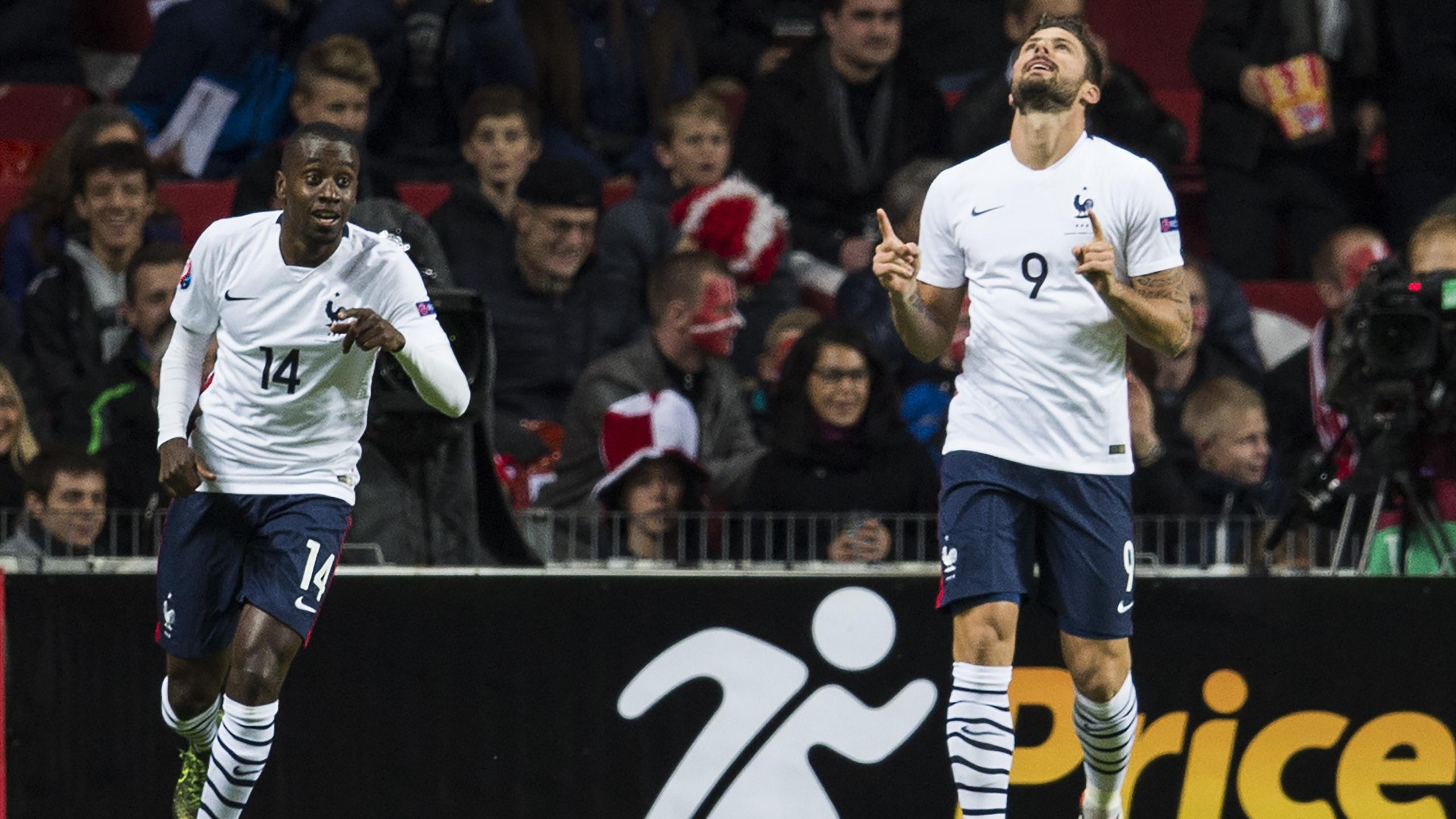 Giroud double buteur face au Danemark