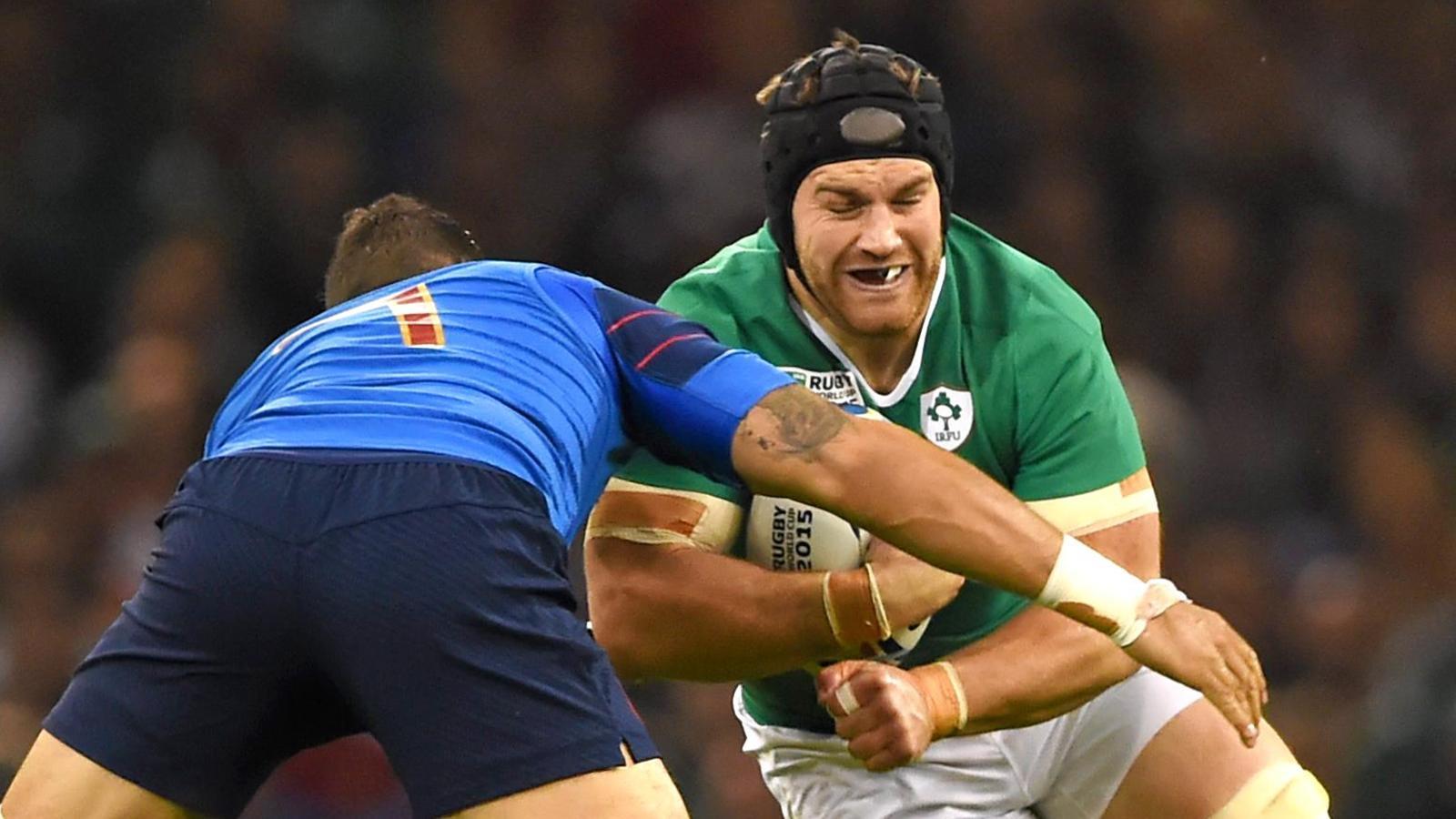 Sean O'Brien - Troisième ligne de l'équipe d'Irlande - Irlande-France - 11 octobre 2015