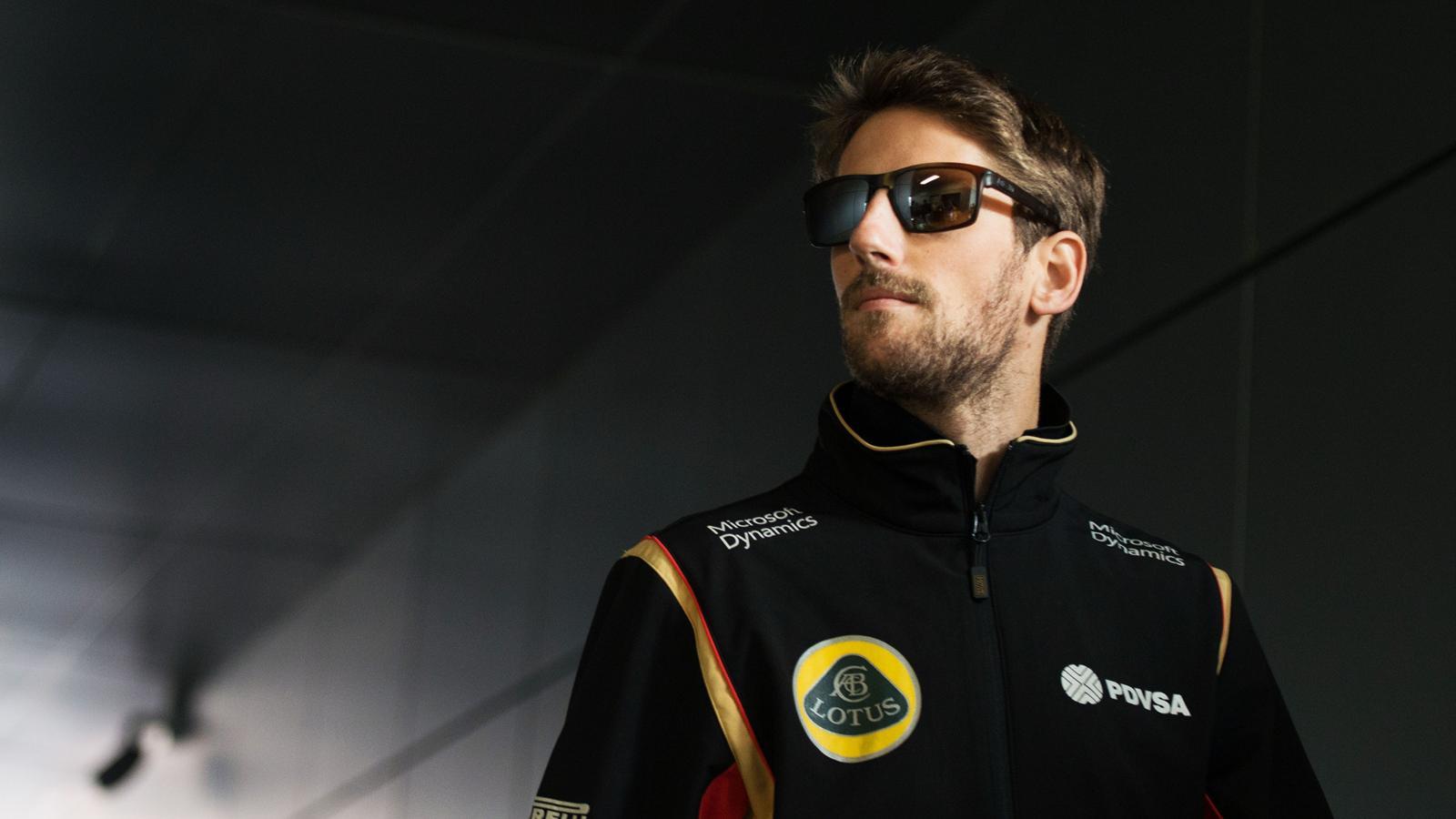 Romain Grosjean (Lotus) au Grand Prix de Russie 2015