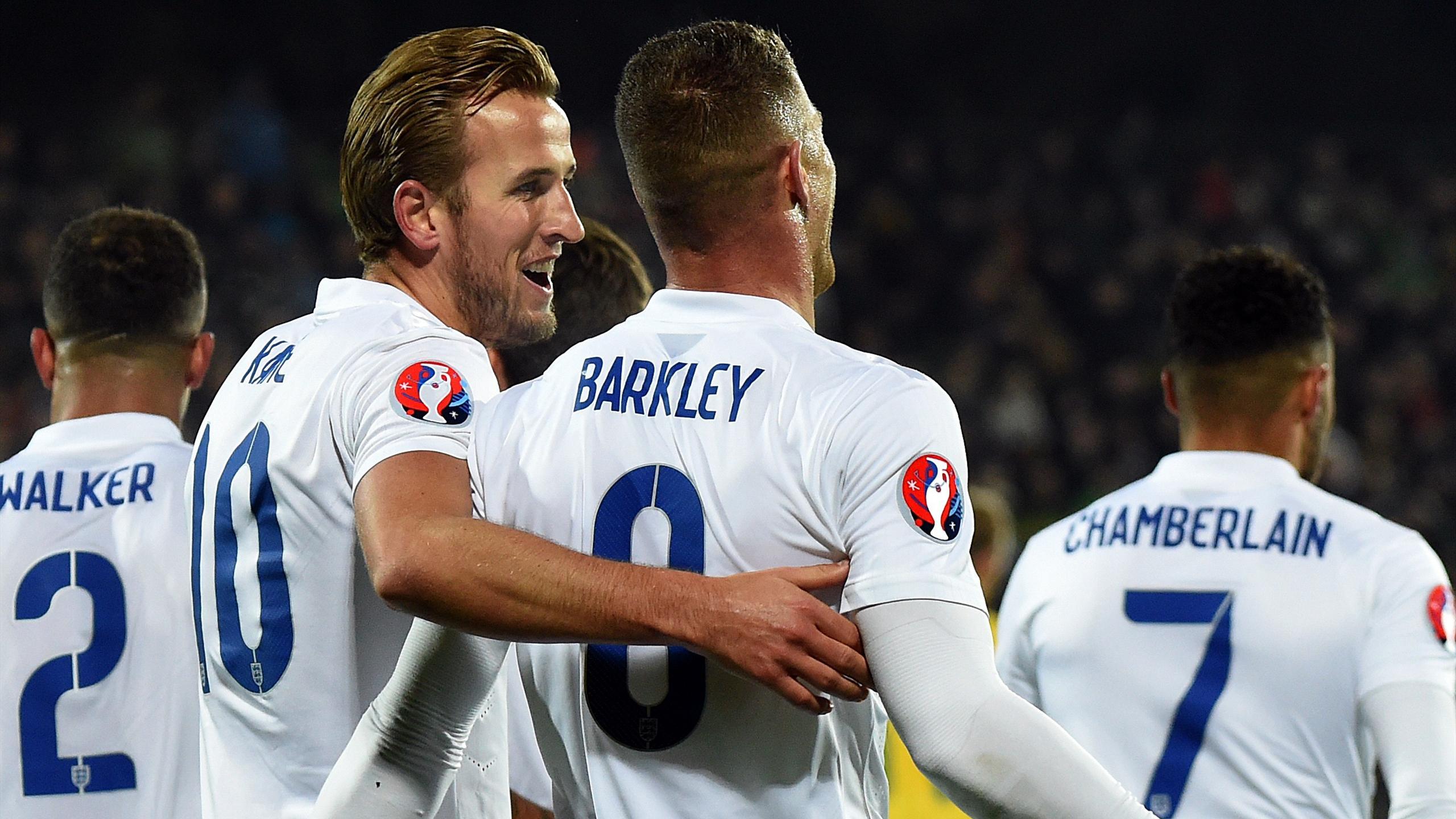 La joie de Harry Kane et de Ross Barkley lors de Lituanie-Angleterre