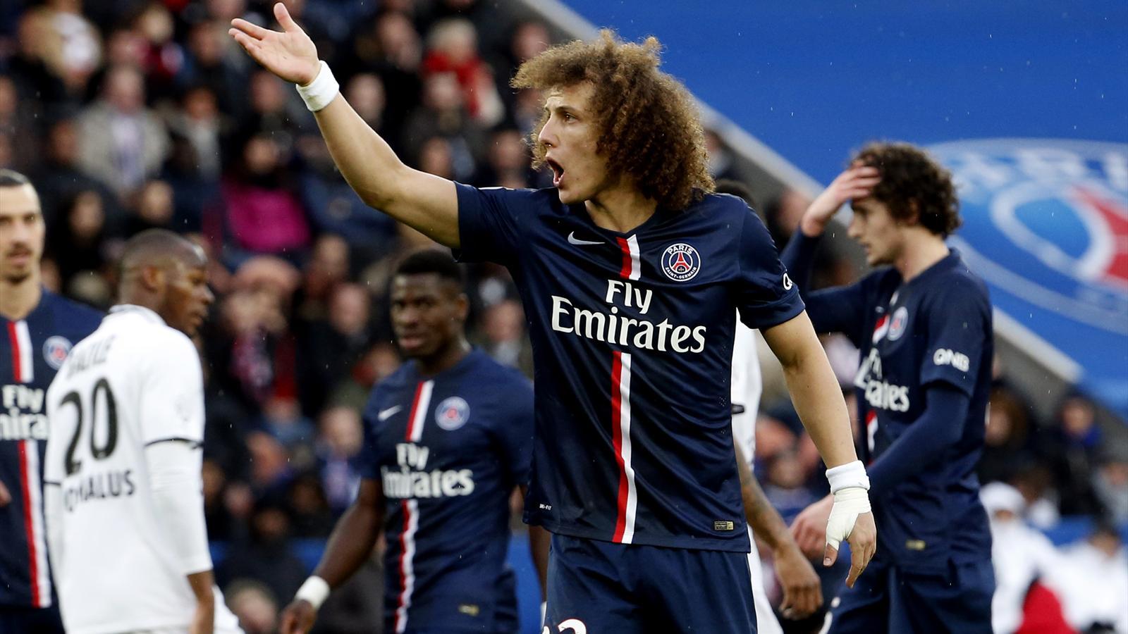 David Luiz lors de PSG-Caen (saison 2014-2015)
