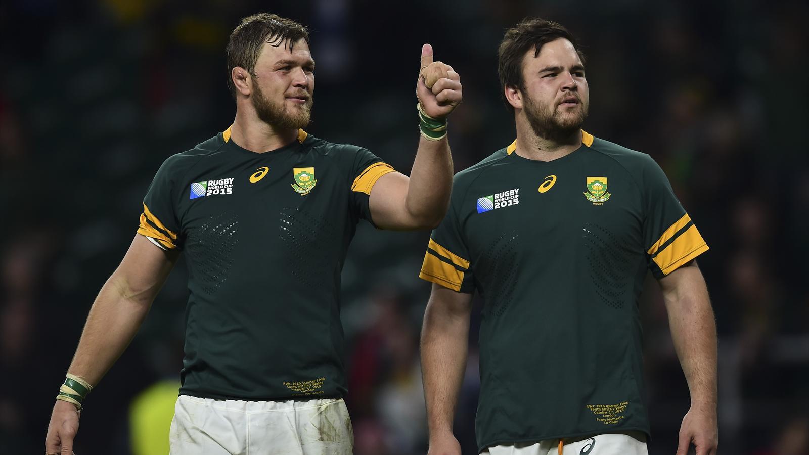 Duane Vermeulen et l'Afrique du Sud qualifiés pour les demi-finales de la Coupe du monde