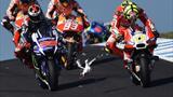 On refait le Grand Prix : Marquez, Lorenzo, Iannone et Rossi ont roulé pour la légende