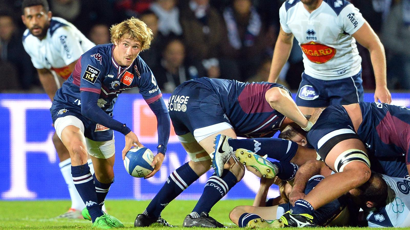 Baptiste Serin (Bordeaux-Bègles) face à Agen - 16 octobre 2015
