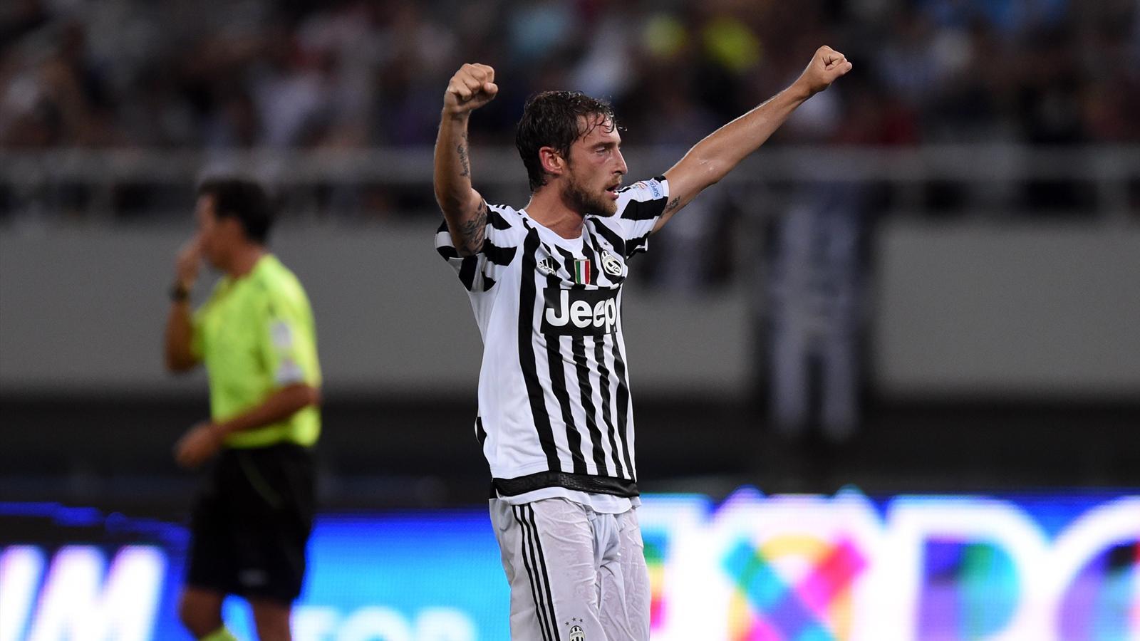 Juventus midfielder Claudio Marchisio celebrates