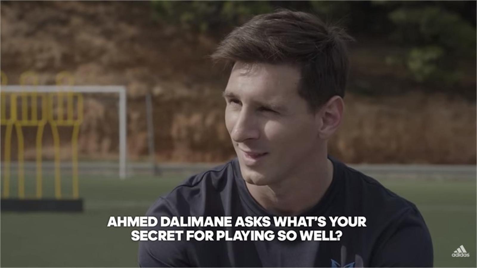 Moral abortar Jadeo  Barcelona's Lionel Messi reveals his 'secret to success' in Adidas Q&A video  - Liga 2015-2016 - Football - Eurosport Australia