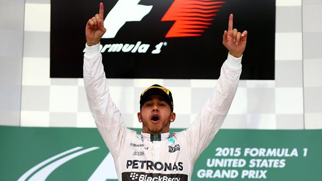 Hamilton entre dans le club des triples champions du monde