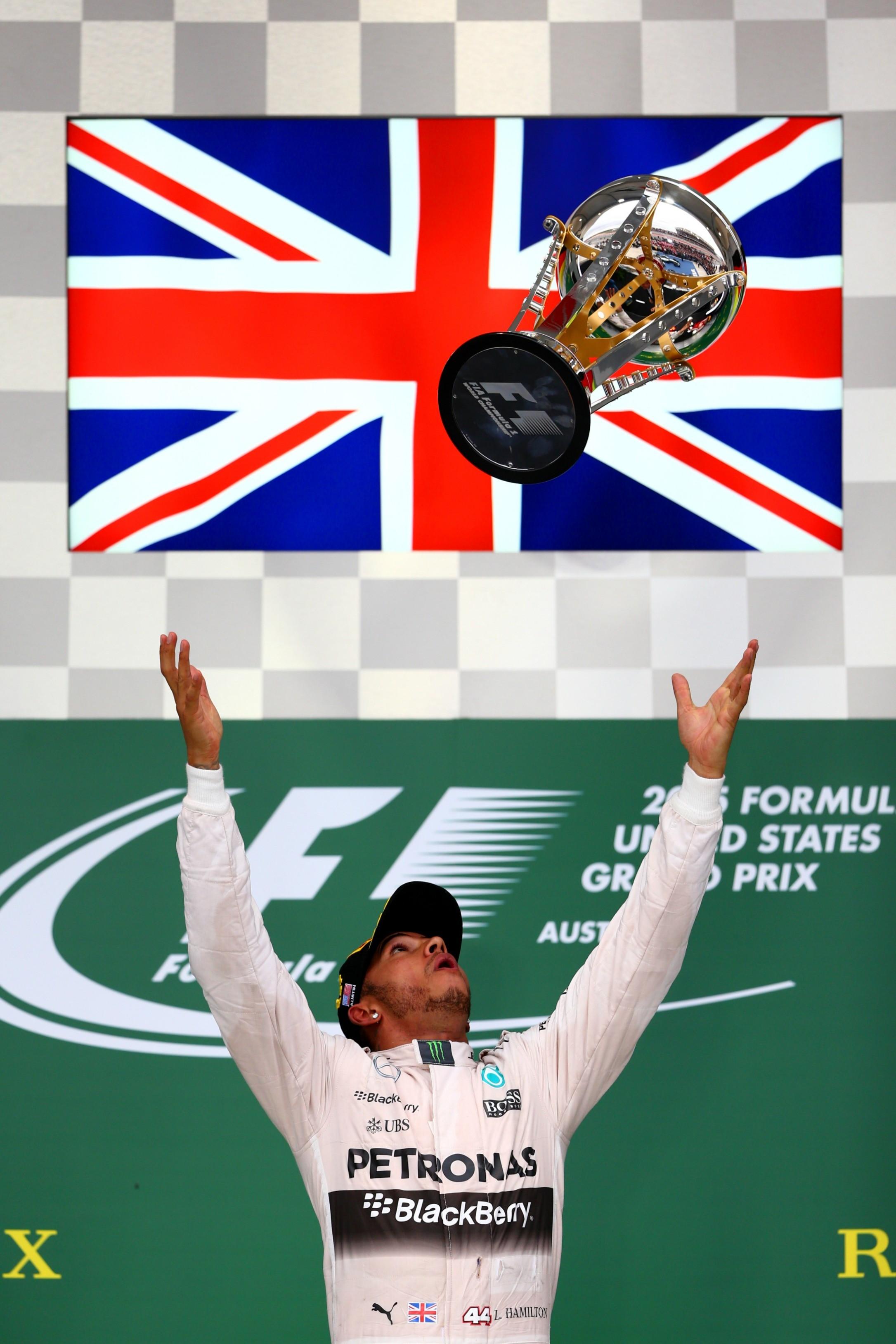 Lewis Hamilton (Mercedes) au Grand Prix des Etats-Unis d'Amérique 2015