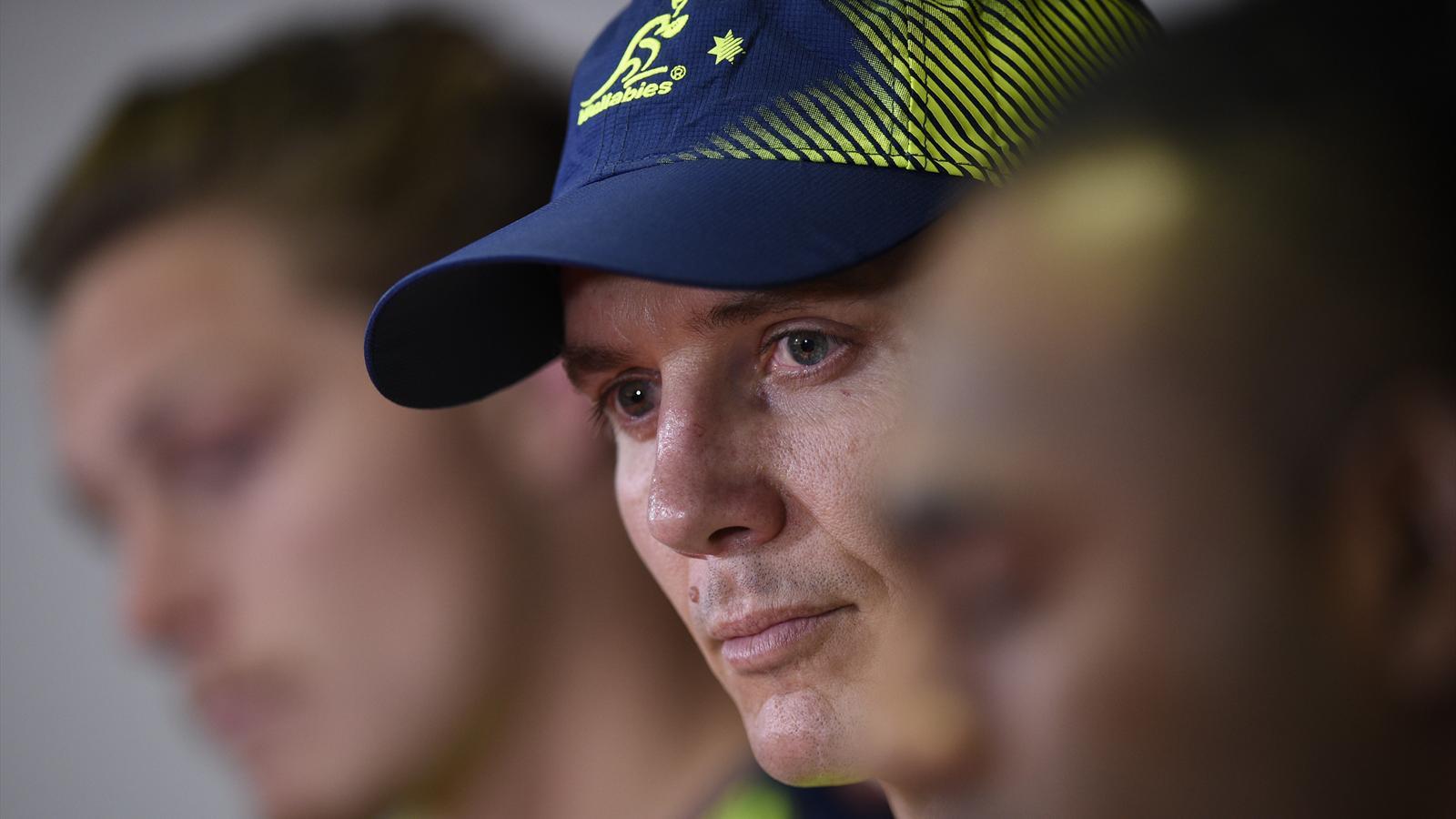 Stephen Larkham, aujourd'hui entraîneur des trois-quarts de l'Australie