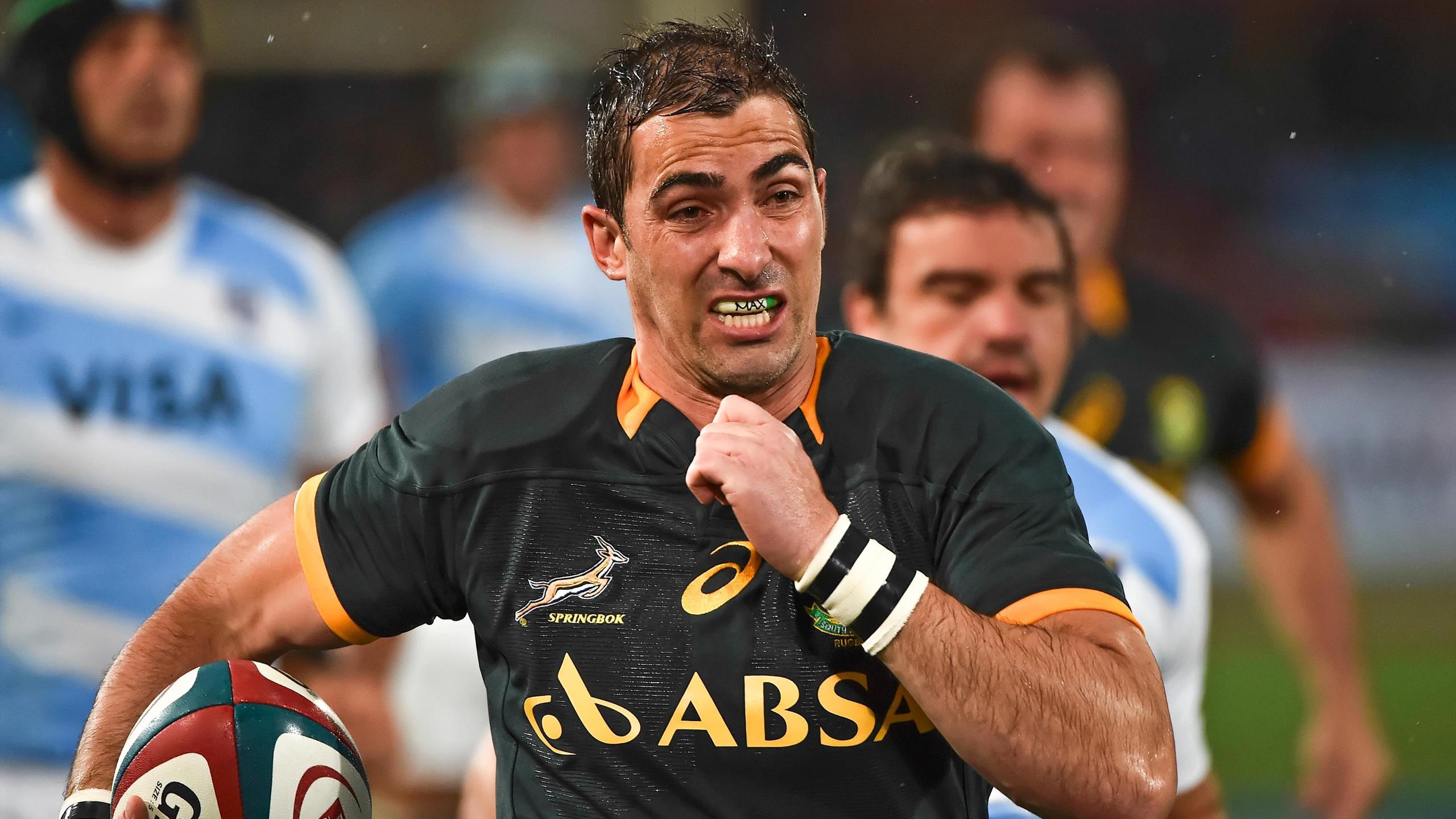 Ruan Pienaar (Afrique du Sud) face à l'Argentine - aout 2014