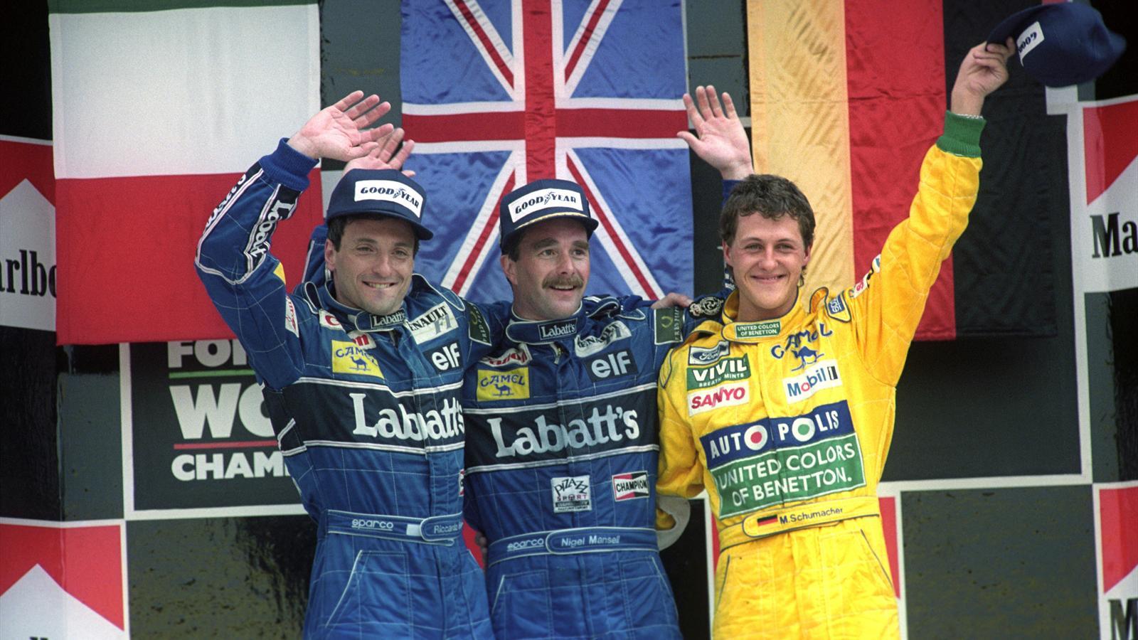 Michael Schumacher's first Formula 1 podium, at the 1992 Mexican Grand Prix